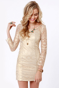 White-Gold Dress