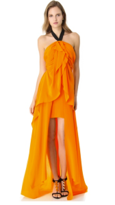 Papaya Vionnet Gown